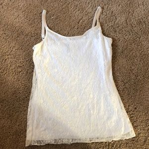 Maurices white lace tank